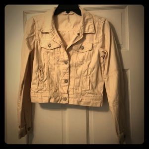 Free People Cream Corduroy Jacket